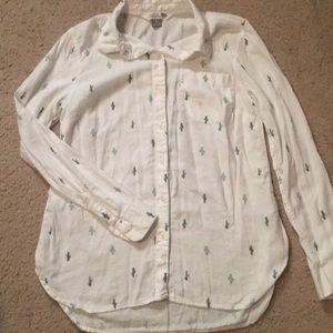Old Navy Button Up Cactus Short Small